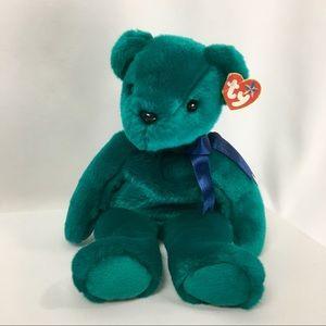 "4/ $25.  TY Teal ""Teddy"".  Retired 2000"